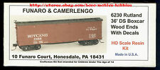 Funaro F&C 6230 Rutland Whippet Route 36' Ds Wood Boxcar Detailed Resin Kit