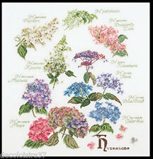 Thea Gouverneur   3067A  Hydrangea Panel  Aïda  Kit  Point de Croix  Compté