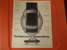 "1971 Sabaru Vintage Ad ""The Subaru is not a Japanese Beetle"""
