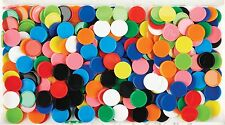 Maths Counters 100pk - Coloured Round (20mm) Assorted Colours