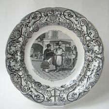 1844 ASSIETTE GIEN DE BOULEN PALAIS DE CRISTAL N°8 COCHER CRYSTAL PALACE Cocher