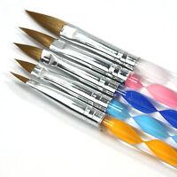 5PCS Nail Art Acrylic Gels Brush Set Painting Pen Tips Polish Dotting Tool kit