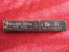 WESTER BROS NEW YORK DE-FI 34 STRAIGHT RAZOR EMPTY BOX ONLY