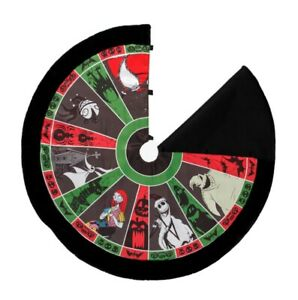 DISNEY Nightmare Before Christmas Roulette Wheel 48 Inch Holiday Tree Skirt