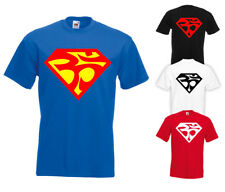 OM Superman style T-Shirt Mens All Sizes