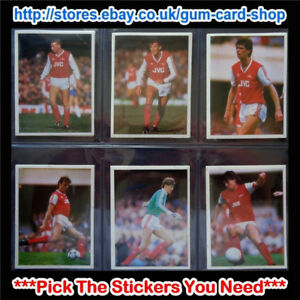 DAILY MIRROR 1986-87 STICK WITH SOCCER (ARSENAL) *PLEASE SELECT STICKERS*
