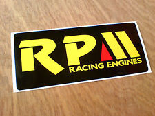 RPM Racing Engines Pro Kart Seat Trailer Sticker Decal 1 off 190mm