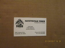 CHL Fayetteville Force Vintage Defunct Logo Hockey Business Card