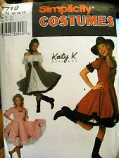 Simplicity 7719 Misses Square Dance Dresses Size 10-12-14 Katy K Designs Pattern