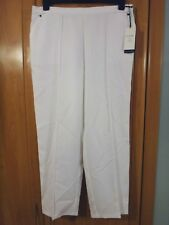 M & S Classic Pull On Tapered Leg White Trousers BNWT Size 14 Short