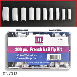 DL Professional DL-C112 Nail Tip Kit - French 300pc