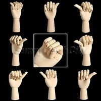Wooden Left Right Hand Flexible Jointed Sculpture Artist Sketching Drawing Model