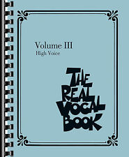 The Real Vocal Book Volume III High Voice Real Book Fake Book NEW 000240391