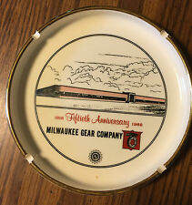 VINTAGE ASHTRAY MILWAUKEE GEAR COMPANY AGMA 50th ANNIVERSARY 1918-1968 ADVERTISE