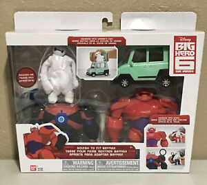 BIG HERO 6 The Series - with Red Armor SQUISH-TO-FIT BAYMAX +  Accessories NEW!