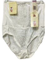 Jaclyn Smith HighWaisted Nipper Corset Panty Brief Tummy Control Shaper White XL