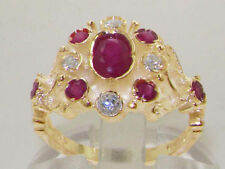 Anniversary Cluster Natural Ruby Fine Rings