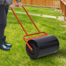 More details for outsunny combination push/tow lawn roller filled w/ 38l sand or water garden