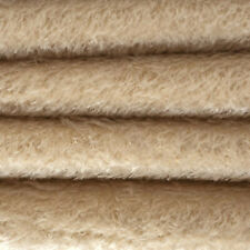 """1/4 yd 300H Buttercup Intercal 1/2"""" Ultra-Sparse Heirloom S-Finish Mohair Fabric"""