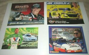 NHRA Racing Driver Postcards Lot of 43 different postcards some autographed