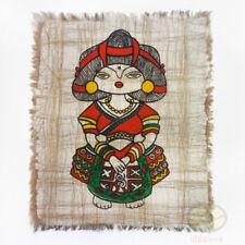 Chinese Folk Art Handmade Wall Hanging Batik Tapestry - The Yao Minority Girl