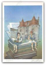 Ex-libris Tillier Le Bois des Vierges Livres signé 14,5x21 cm