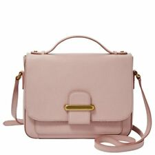 Fossil Women Tatum Crossbody Bag SHB1817656 Purse Handbag Pink Rose Leather New