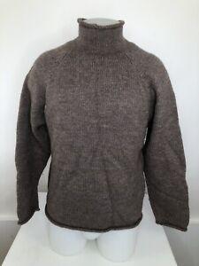 J. CREW - Mens Md. 100% WOOL Heavy Duty ROLL NECK Fisherman Sweater