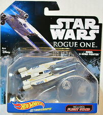 HOT WHEELS STAR WARS STARSHIPS W/ FLIGHT STAND ROGUE ONE REBEL U-WING FIGHTER