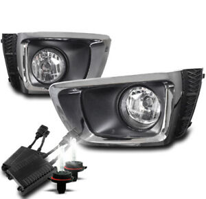 FOR 14 15 16 FORESTER XT BUMPER FOG LIGHTS LAMPS CHROME W/50W 8K HID KIT+HARNESS