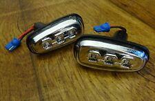 2 x LED Seitenblinker Corvette C6 Z06 GS ZR1 chrom klar mit E-NUMMER Blinker EU