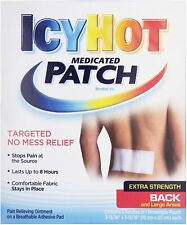 1x Sealed Icy Hot Medicated Extra Strength Back Pain Patch Large EXP 2022 #52