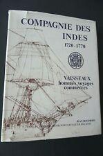 Archéologie navale Compagnie des Indes  1720 1770  Jean Boudriot  vaisseaux etc