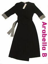 Maternity Dress *Checked*- Black Wrap - UK 8-16 - FREE SHIPPING - BRAND NEW