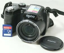 Sanyo VPC-E2100 Digital Point And Shoot Camera 14.0MP 720P 21X w/SD Card Works!