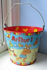 Vintage 1997 Metal Tin ARTHUR Cartoon Rabbit BEACH PAIL