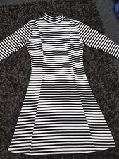 "Ladies ""Influence"" Black & White Striped Dress (Size S/M)"