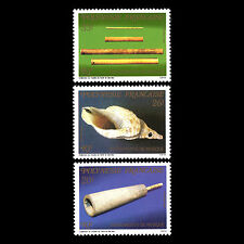 French Polynesia 1987 - Musical Instruments Music - Sc 462/4 MNH