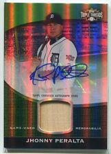 2011 Topps Triple Threads Unity Relic Emerald 83 Jhonny Peralta Bat Auto 45/50