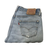 VINTAGE LEVI'S 501 JEANS BLUE DENIM W 33 L 32 BUTTON FLY A1 CONDITION (103)