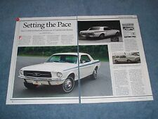 """1967 Indy Pacesetter Mustang Coupe Article """"Setting the Pace"""""""