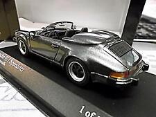 PORSCHE 911 930 Carrera Speedster G Modell grey grau me 1988 Minichamps SP 1:43