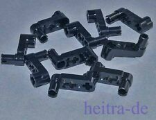 LEGO Technik - 10 x Liftarm flach schwarz 1x3 Achsloch Pin Kurbel 33299 NEUWARE