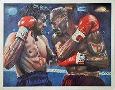 Vintage MARVELOUS MARVIN HAGLER vs ROBERTO DURAN Boxing Fight Art Print Poster