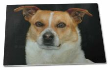 Jack Russell Terrier Dog Extra Large Toughened Glass Cutting, Chopp, AD-JR38GCBL