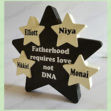 Personalised wooden Star, Fathers Day Gift Present, Hand Painted, Step Dad Sign