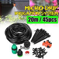 20m DIY Water Irrigation Kits Micro Drip Watering Plant System Garden Hose