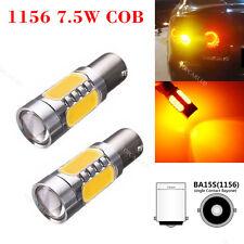 2 X High Power 7.5W COB Amber Ba15s 1156 P21W LED Bulb Turn Signal LED Bulbs 12V