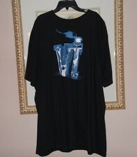 Mens NIKE AIR JORDAN Retro 6 tee shirt size 2XL XXL black blue tops shoes shrts