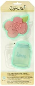 American Crafts 374098 7 Piece Sweet Sugarbelle Country Rose Cookie Cutters